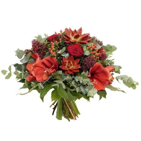 red special boeket, Amaryllis, rode rozen bestellen