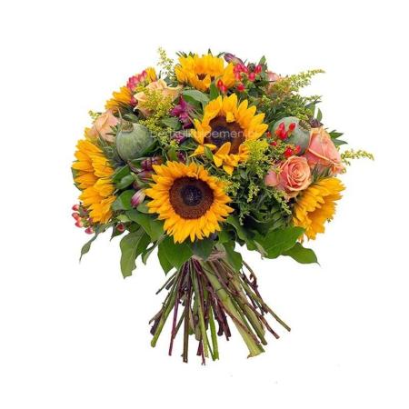 Sunny flowers bos zonnebloemen zomer boeket