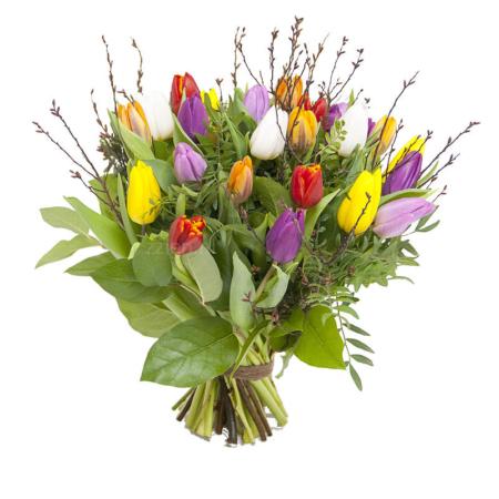 Boeket gemengde tulpen bestellen Leiden