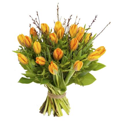 Boeket oranje tulpen bestellen Leiden