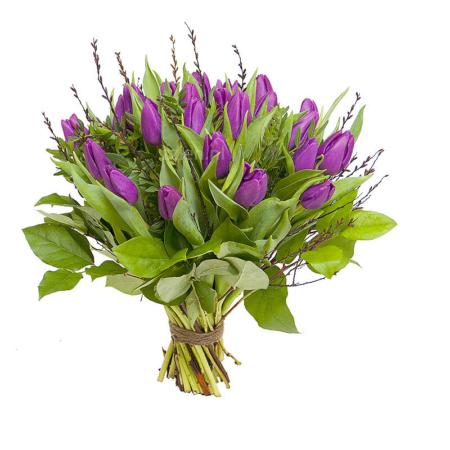 Boeket paarse tulpen bestellen Leiden