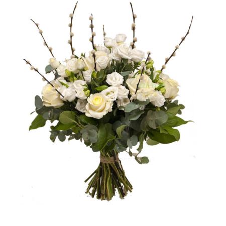 boeket witte rozen bestellen leiden