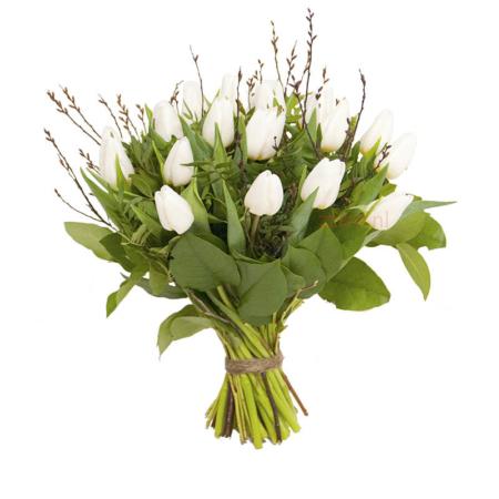 Boeket witte tulpen bestellen Leiden